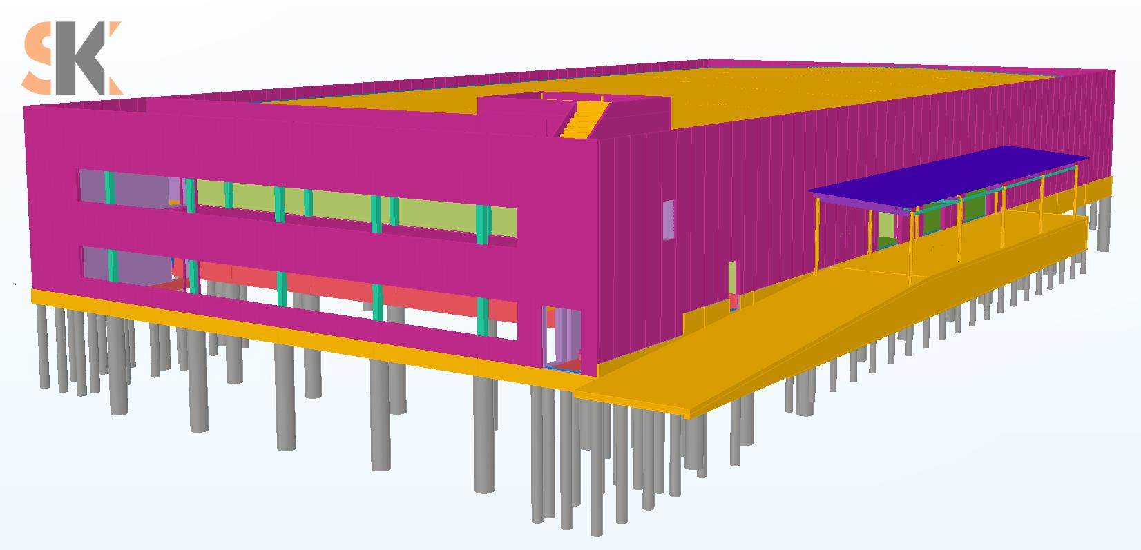Sandėliavimo paskirties pastatas. Techninis ir darbo projektai