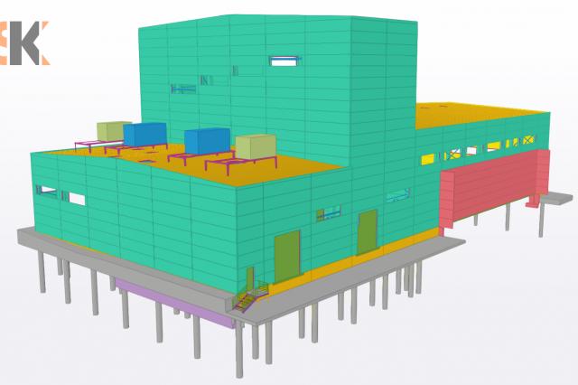 Gamybos, pramonės paskirties pastatas ir stoginės. Techninis – Darbo projektas