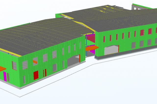 Mokykla Mariestad mieste Švedijoje. Darbo projektas.