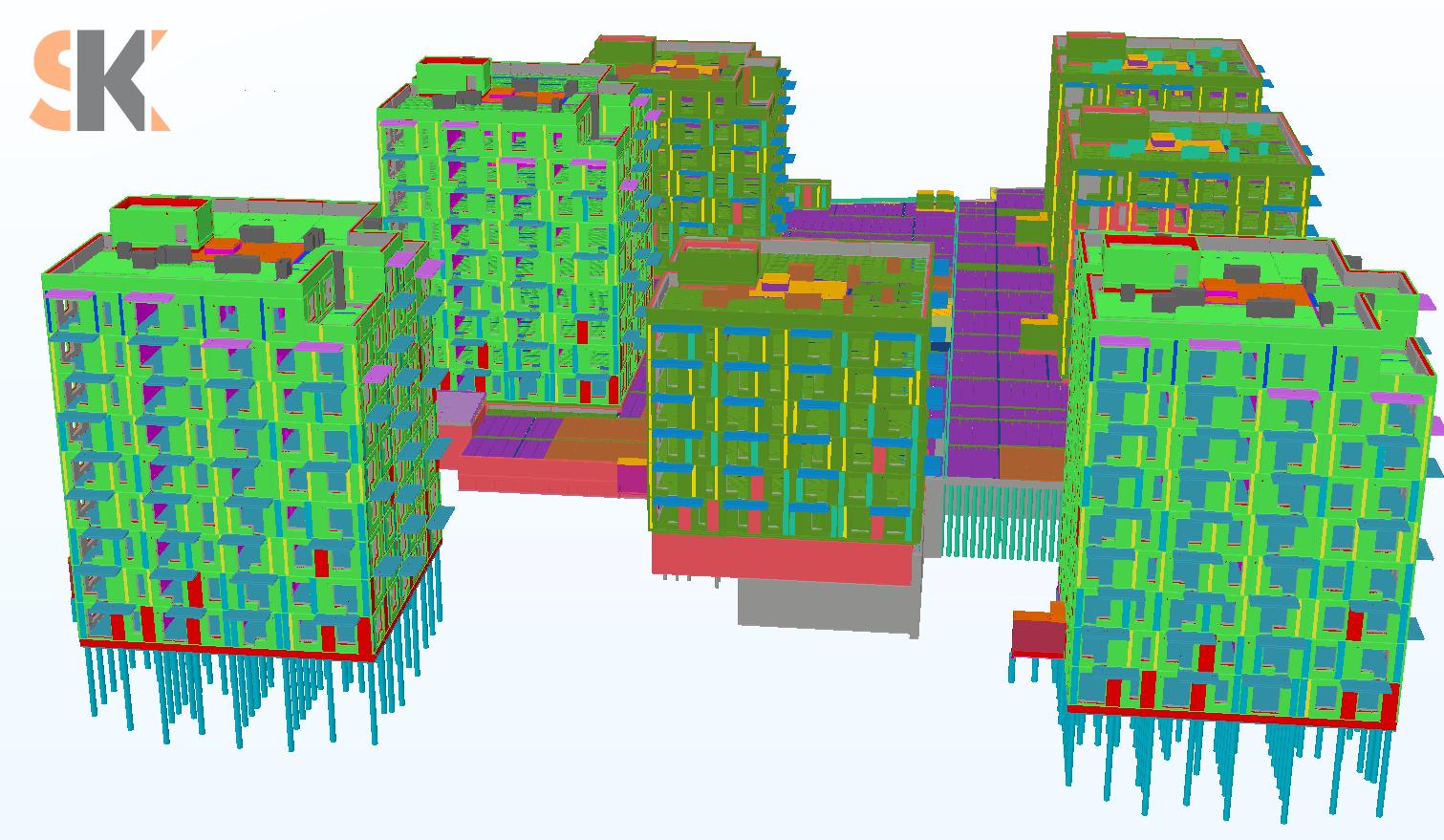 Daugiabučių gyvenamųjų namų su požeminiu parkingu Tuskulėnų g., Vilniaus m. kvartalas. Techninis ir darbo projektai